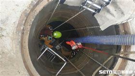 自來水管線工安意外/翻攝畫面