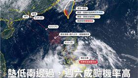 氣象局,天氣,台灣颱風論壇|天氣特急,颱風,鸚鵡 圖/翻攝臉書