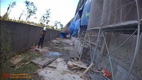 墜樓,安南醫院,工安意外,安南區,頭部破裂,台南,工地(圖/翻攝畫面)