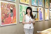 花系列資深女星程秀瑛跨界開畫展【藝色雙飛 2020】。(圖/記者林聖凱攝影)