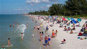 海灘爆人潮!佛州「單日」1698例 美國,佛羅里達州,海灘,武漢肺炎,確診,破紀錄 示意圖/攝影者R Boed, Flickr CC License