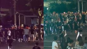 大甲媽遶境彰化大村打架/翻攝自黑色豪門企業臉書