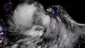 鸚鵡颱風衛星雲圖。(圖/翻攝自停班停課最新通知臉書)