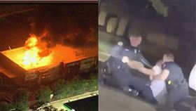 得來速之死延燒!非裔男遭警開槍身亡…示威者放火燒餐廳。(圖/翻攝自推特)