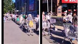 大陸,北京,超市,市場,搶購(圖/翻攝自微博)