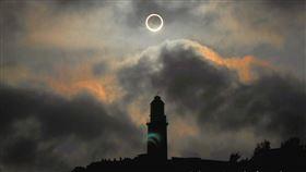 6月21日下午4時許,台灣的天空將出現繼2012年5月21日之後再次發生的日環食現象(圖/翻攝自報天文 - 中央氣象局)