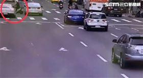 保時捷,車禍,警察,警車 翻攝畫面