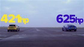 ▲賓士A45 S對決BMW M8 Competition(圖/翻攝CarWow Yourube)