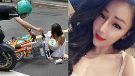 白衣爆乳辣妹好身材引發網友熱烈討論。(圖/翻攝爆廢公社)