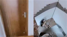 中國,樓梯,拆除,公寓,浙江。(圖/翻攝自微博)