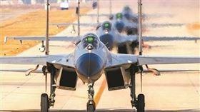 中共軍機,示意圖,翻攝自中國軍網