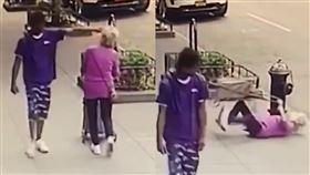 男隨機攻擊92歲嬤 重摔腦撞消防栓 美國,紐約,隨機攻擊,長者,老奶奶,重摔,消防栓,曼哈頓 翻攝自推特