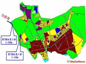 民雄頭橋地區都市計畫11號道路第二期拓寬工程,近期開闢,將帶動民雄鄉之整體發展(圖/營建署)