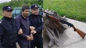 黑龍江省一名男子,在結婚後依舊不安份,與老婆的妹妹有染,岳父一氣之下,竟然持獵槍將女婿一擊爆頭 (組合圖/翻攝自微博)