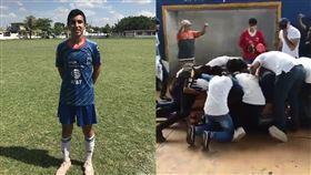小球員遭槍殺 下葬前…隊友助他進球 墨西哥,誤殺,警察,足球,Alexander Martinez,棺材,進球,洋蔥 翻攝自推特