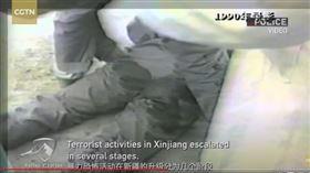 中國新疆反恐紀錄片曝光…市民哽咽:害我爸身體沒一處完整(圖/翻攝自CGTN)
