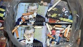 丟文在寅菸蒂!北韓嗆「南韓人渣惡有惡報」…行傳單散佈戰 圖/翻攝自朝中社