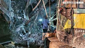 京華城,坍塌,工人受困,台北,翻攝畫面