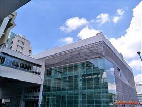 「市政府站」出入口展新裝,迎接中捷綠線年底通車(圖/台中市政府)