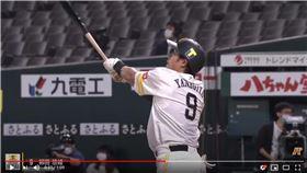 ▲柳田悠岐本季首轟。(圖/翻攝自太平洋聯盟TV)