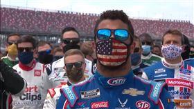 ▲黑人車手Bubba Wallace。(圖/翻攝NASCAR ON FOX YouTube)