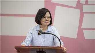 總統府換裝 小英:台灣價值接軌國際