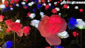 南山4F天際花園夜景照(圖/微風百貨提供)