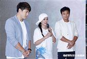 丁國琳、林佑星和阿布合開直播記者會,邀請范植偉及馮子紜站台。(圖/記者林聖凱攝影)