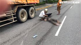 砂石車,機車雙載,顱內出血,台北,蕭姓民眾提供