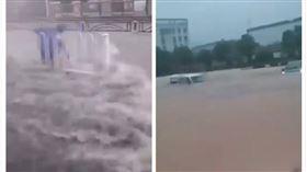 湖北宜昌淹水(圖/翻攝自推特)