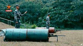 官媒公開解放軍軍事訓練影片(圖/翻攝自微博)