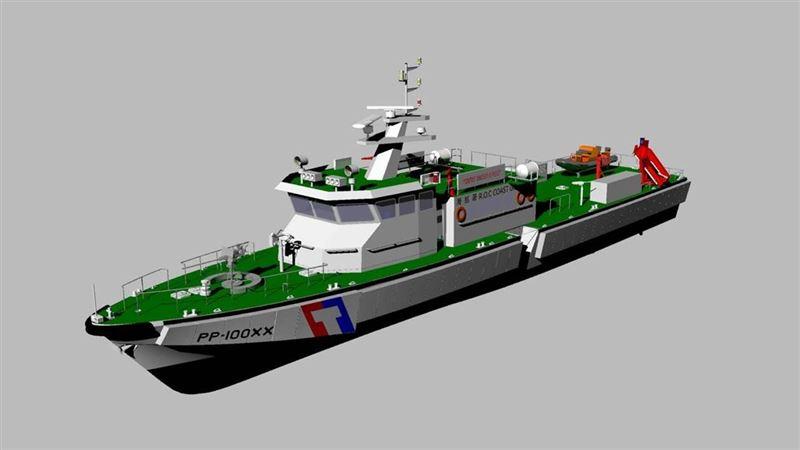 中國越界漁船小心了!海巡新百噸巡防艇開工 驚人火力曝光