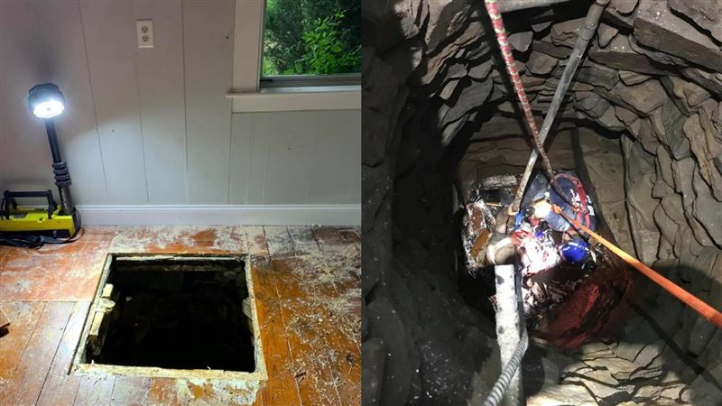 男幫朋友搬家…不小心踩破地板!下秒跌進「9公尺深古井」