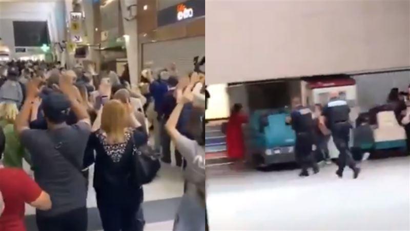驚傳「AK47槍手」闖入購物中心 現場竄逃畫面曝光