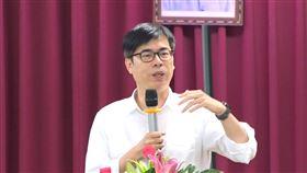 陳其邁赴漁會發表談話
