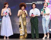 比莉、賈靜雯、柯佳嬿攜手演出影集「媽,別鬧了!」。(記者邱榮吉/攝影)