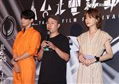 導演廖明毅、林柏宏、謝欣穎出席「怪胎」亞洲首映。(記者邱榮吉/攝影)