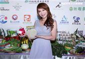 佩甄出席「臺灣農產嘉年華」網購活動。(記者邱榮吉/攝影)