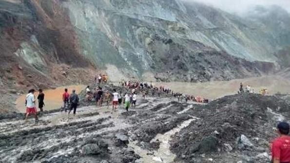 緬甸史上最慘 礦場坍已162人罹難