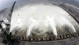 三峽大壩,洩洪,資料照