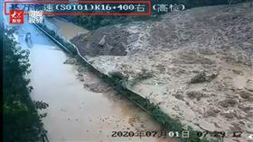 大陸,重慶,高速公路,土石流,豪雨(圖/翻攝自微博)