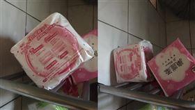 衛生紙,衛生棉,老闆娘,吸水力(翻攝自 爆笑公社)