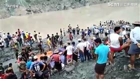 緬甸礦場土石流(圖/AP授權)