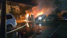 火燒車,燒炭,停車場,台南