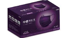 屈臣氏再開賣最新一波中衛口罩,這次還有熱門色「炫霓紫」。(圖/業者提供)