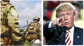 川普,美軍