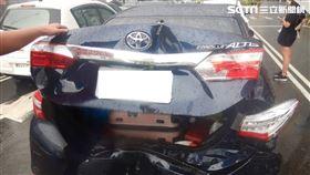 台中3車追撞/翻攝畫面