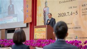 立法院長游錫堃5日出席「第12屆台北國際中醫藥學術論壇」大會開幕式。(圖/總統府提供)