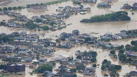 日本九州熊本豪雨成災(圖/翻攝自日本weathernews)