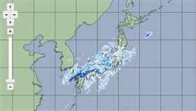 日本九州衛星雲圖(圖/翻攝自日本氣象廳)